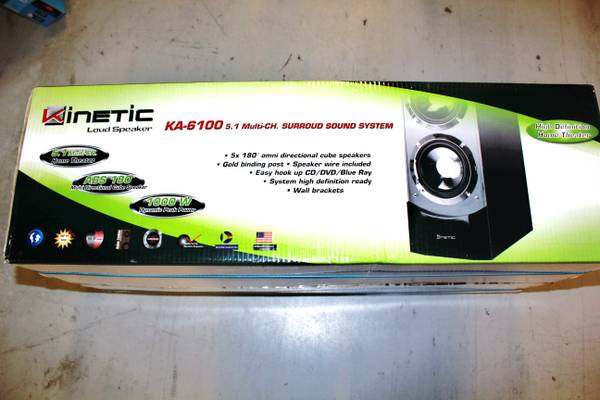 Kinetic KA-6100 5.1 Multi Channel Surround Sound Speaker System - $1000 (Metairie, Louisiana)