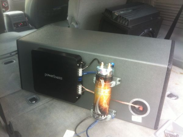 One month old Powebass dual enclosed 10s W   - $250 (Uptown)