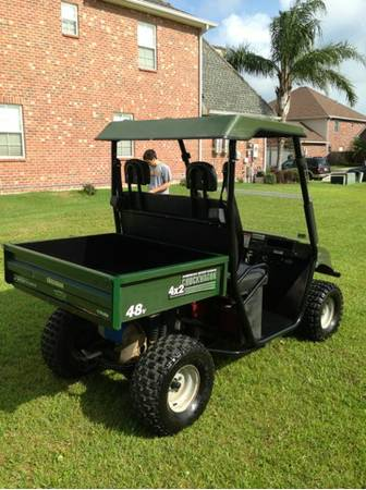 Lifted golf cart utv 48 volt electric with dump bed ez go club car - $2800 (Kenner)