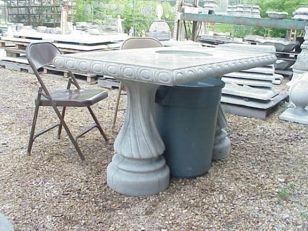 Crawfish eating Concrete Table with Pedestals - $295 (Ponchatoula)