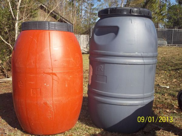 55 Gallon Food Grade BarrelsRain Barrels 4 Sale  - $30 (Slidell)