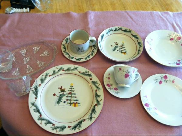 Sets of China, Glass and Farberware Dishes - $10 (Slidell)
