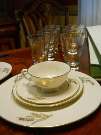 Lenox harvest pattern China set tumblers - $125 (metairie)