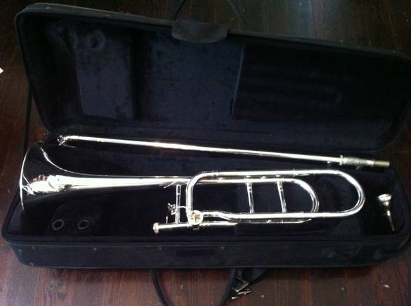 F. Schmidt brand, open wrap, F Attachment tenor trombone - $1000 (midcity)