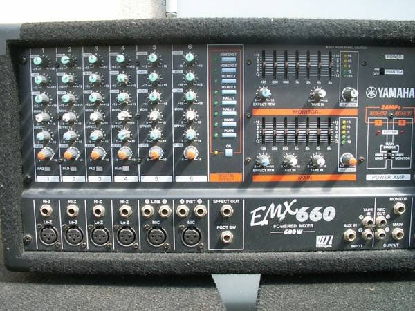 Yamaha EMX660 Powered Mixer - $195 (Baton Rouge)
