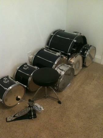Yamaha 5 Piece Drum Set with symbols - $800 (Metairie)