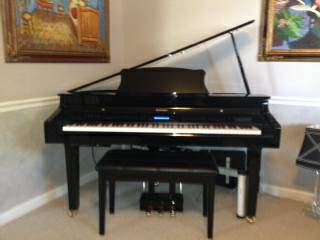 Suzuki G-33 Digital Black Lacquer Baby Grand Piano wbench - $3975 (Jefferson Par.)