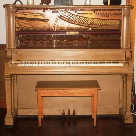 Antique P.A. Starck Upright Grand Piano late 1800s to early 1900s - $4000 (Maben, MS)
