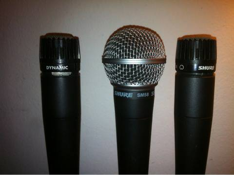 1 - Shure SM58 Mic 2 Shure SM57 Microphone Vocal Guitar Drum - $200 (Uptown)