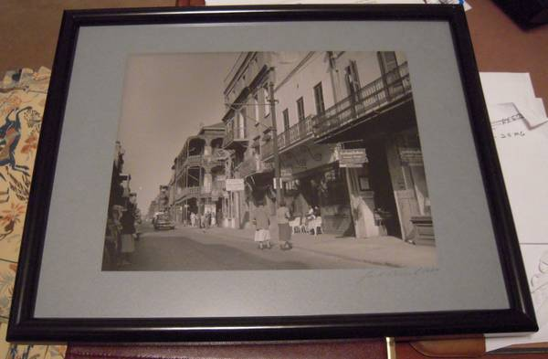 SIGNED JACK BEECH BLACK  amp  WHITE PHOTO OF ROYAL ST  -   x0024 150  METAIRIE