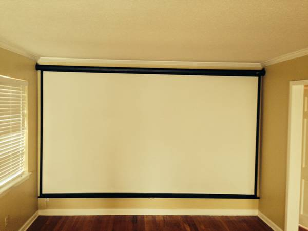 Elite Manual Pull Down Projection Screen -   x0024 125