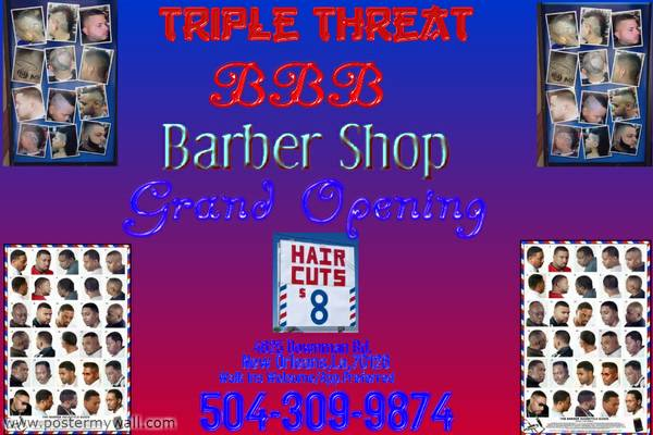 Now Hiring Barber and Natural Hair Stylist (4625 Downman rd) ((4625 Downman rd) )