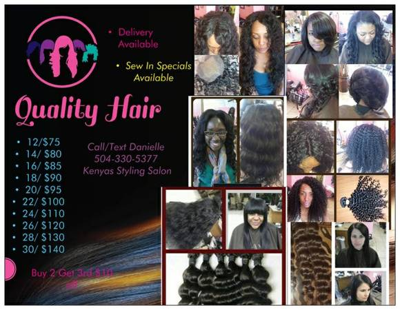 Hair Extensions ( Sew-in, Malaysian Method,Micro Links,Quick weave) (New Orleans east)
