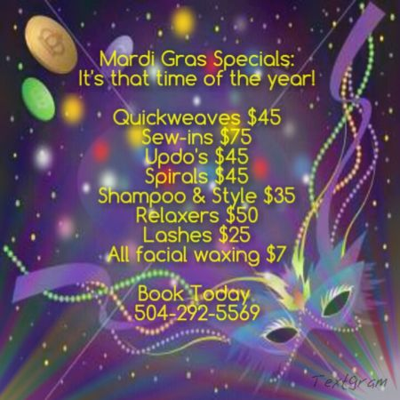 Book Your Mardi Gras Appointment (Zulu Ball)