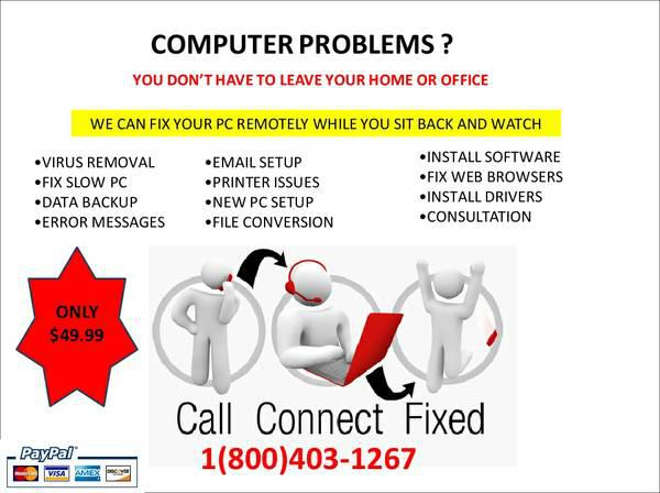 Virus Removal-PC or MAC-Fix Slow PC-Fix Windows or Office Not Genuine-Printer Issues 800403-1267