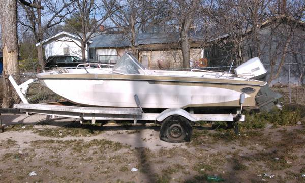 Boat and trailer for sale   400 OBO  San Angelo