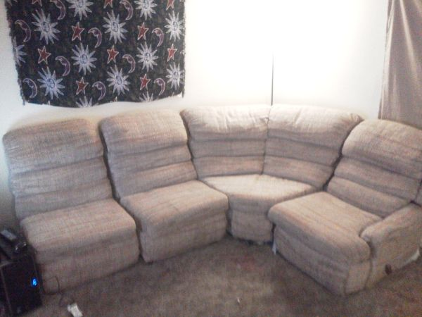 Free Couch and Computer Desk