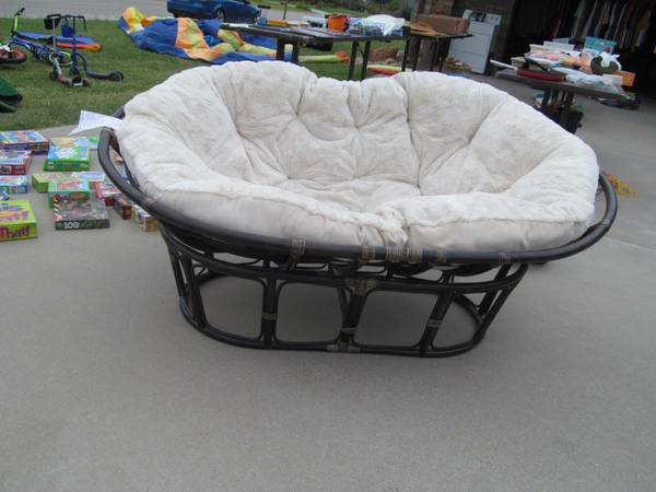 Pier 1 Double Papasan Chair For Sale