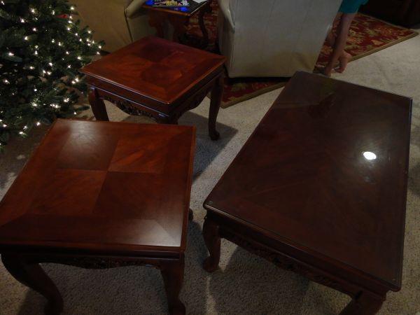 BEAUTIFUL HIGH END COFFEE END TABLES SOLID WOOD - $175 (SAN ANGELO)