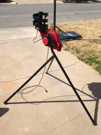 Trend Sports BaseHit Pitching Machine with Ball Feeder -   x0024 119  San Angelo