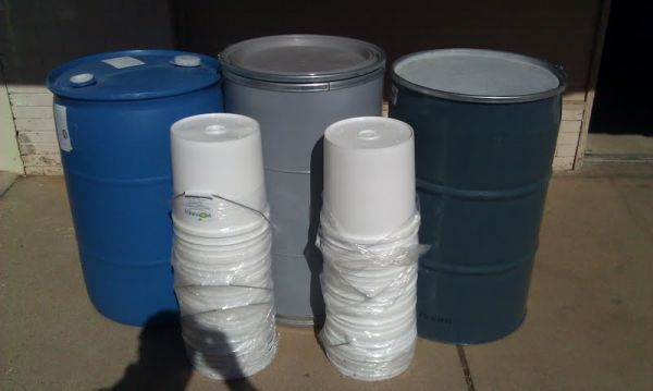 PREPPING Food Grade Storage Solutions 5 55 Gallon - $1 (Abilene)
