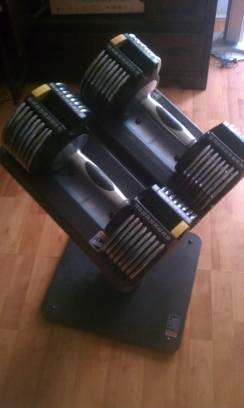 golds gym all in one dumbbells - $175 (Goodfellow)