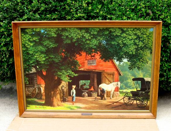 1960 Paul Detlefsen Original Framed Litho of Painting Horse  Buggy.. - $450 (Lakeway, TX 78734)