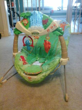 fisher price bouncer rainforest - $20