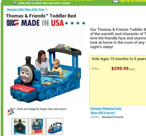 Toddler bed Thomas the train - $150