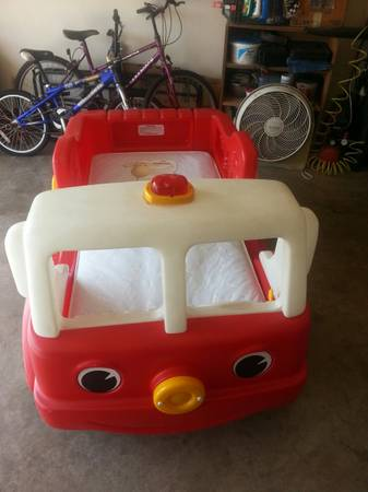 Step 2 Firetruck Toddler bed - $50 (san angelo)