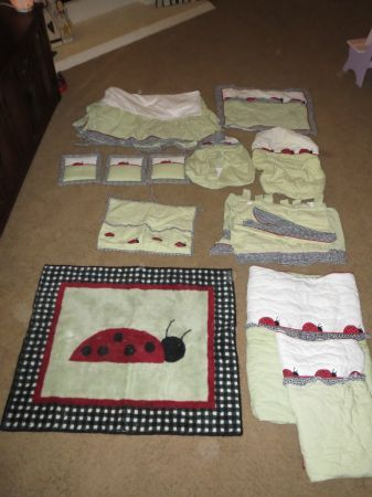 Sweet JoJo Designs Lady Bug Crib Youth Bedding Set - $100 (San Angelo)