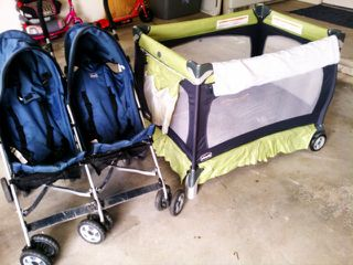 Chicco Pack n Play and Duo Stroller - $1 (San Angelo)