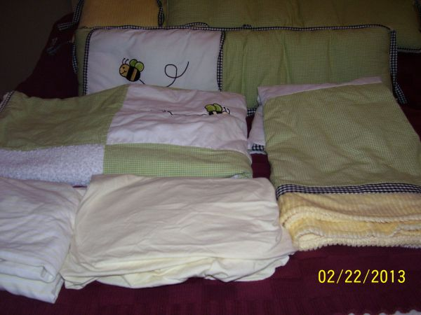 Wendy Bellissimo Honey Bee Crib Bedding Accessories - $250 (San Angelo)