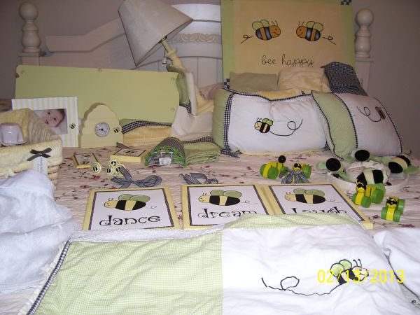 Wendy Bellissimo Honey Bee Crib Bedding  All Accessories - $299 (San Angelo)