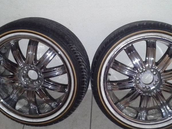 20 rims wrapped in slim vogue tires($800) - $800 (san angelo,tx)