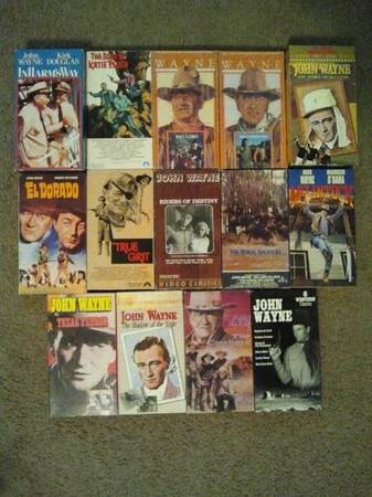 John Wayne VHS lot -   x0024 30  grape creek