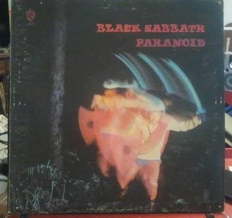 Black Sabbath Paranoid original Gatefold vinyl LP Green label WB 1887  -   x0024 25  grape creek