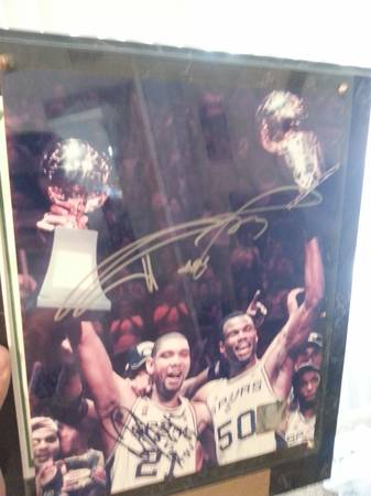 tim duncan and david robinson signature poster
