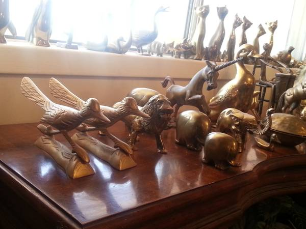 brass animal collection