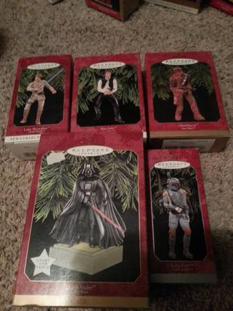 Star Wars Hallmark Ornaments - $20 (san angelo)
