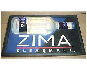 Zima Light Sign ( Reduced ) - $95 (San Angelo)