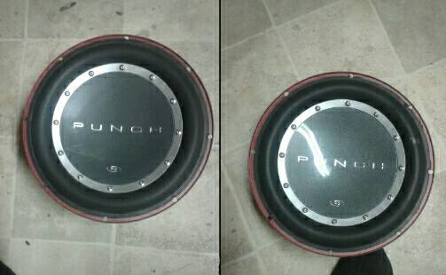 Two Rockford fosgate p2 10 sub woofers.. 85 for both