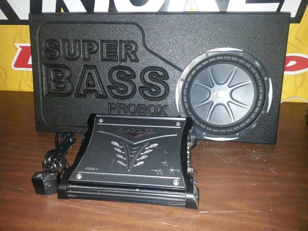 10 kicker cvx in ported truck box with kicker 500.1 - $250 (San Angelo,Tx)