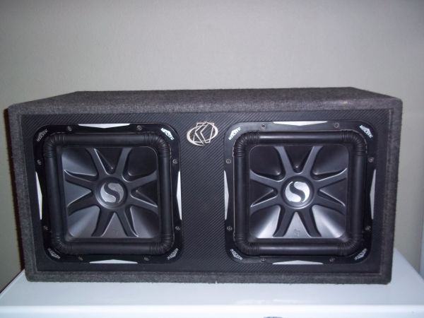 KICKER Solo-Baric L7 Subs with Custom Kicker Box (Price Reduced) (SAN ANGELO)