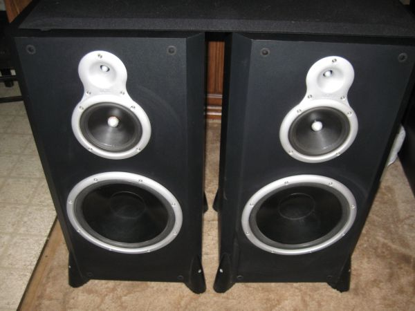 PAIR of DCM speakers - $100 (san angelo )