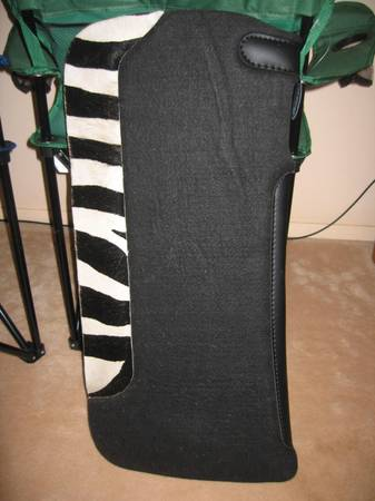 New Saddle Pad with Zebra Print wear leathers - $100 (san angelo)