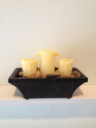 Rock Waterfall Candle Fountain Decor - $2 (The Bluffs)