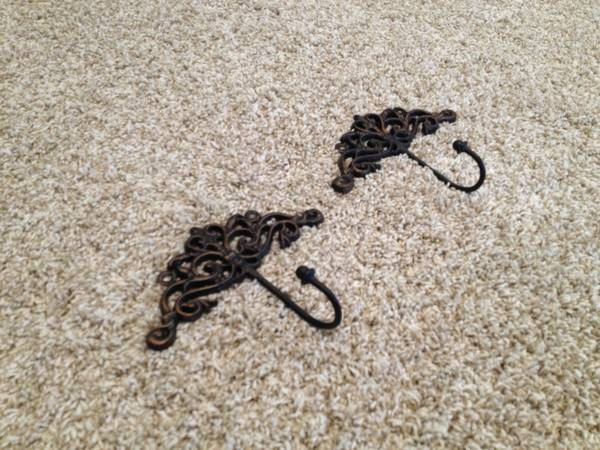 2 Brushed Bronze Colored Decorative Hooks - $5 (The Bluffs)