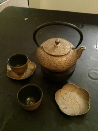 beautiful tea set -   x0024 20  san angelo