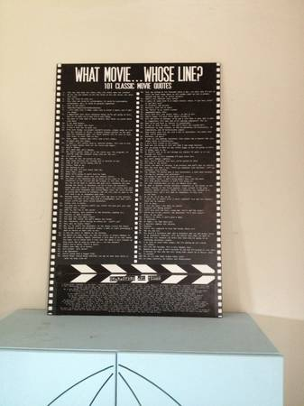Game Room Decor 101 Classic Movie Quotes - $10 (The Bluffs)